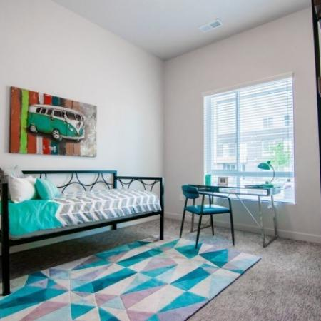 Spacious Bedroom | Apartments For Rent West Jordan Utah | Novi at Jordan Valley Station
