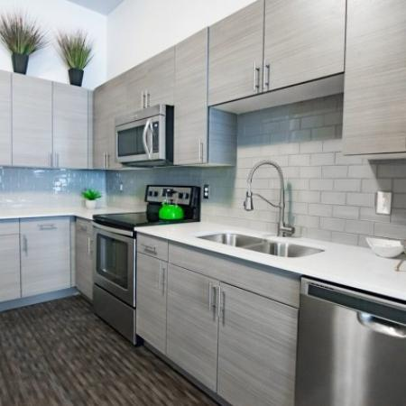 Modern Kitchen | West Jordan UT Apartments | Novi at Jordan Valley Station