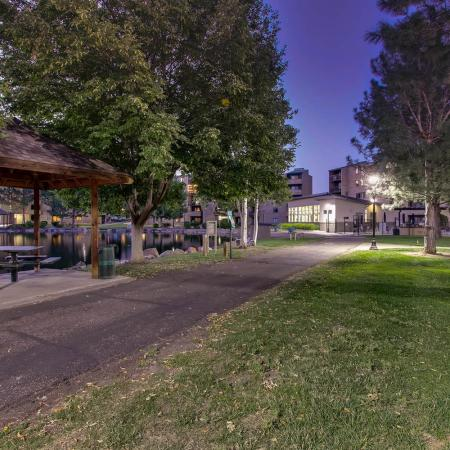 Paved Walking Trails | Lakewood Luxury Apartments | Lakeview Towers At Belmar