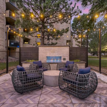 Resident Fire Pit | Lakewood Rentals | Lakeview Towers At Belmar