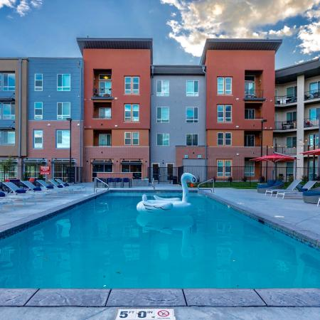 Swimming Pool | West Jordan Utah Apartments | Novi at Jordan Valley Station