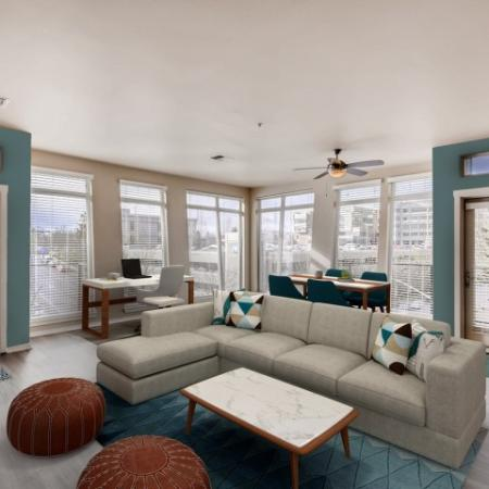 Spacious Living Room | Apartments in Tacoma , WA | Chelsea Heights Apartments