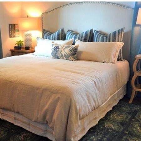 Spacious master bedrooms fit king size beds
