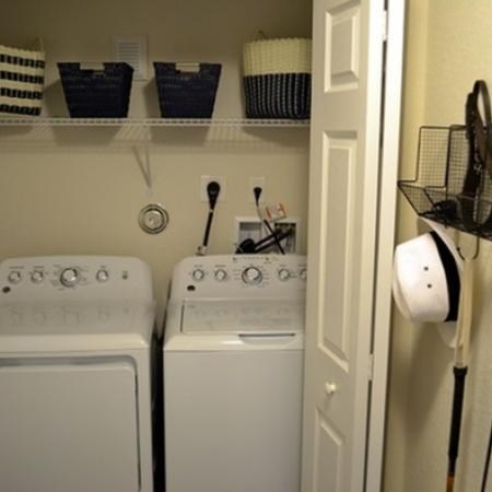 Full size washer and dryer in each townhome