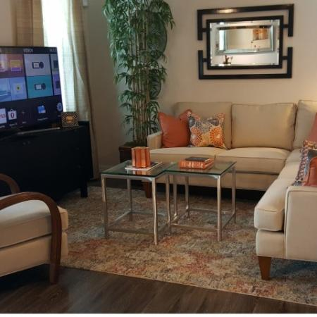 Living area of 3-story townhome
