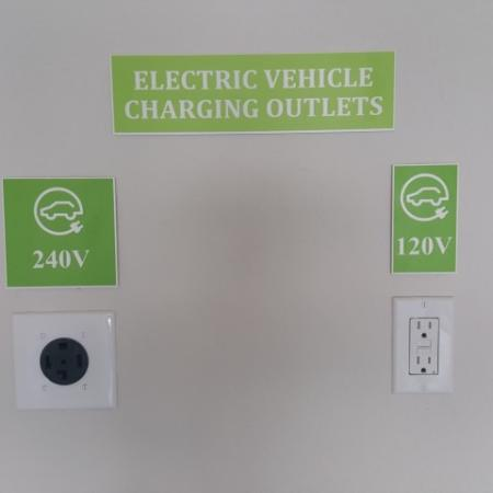 Electric Vehicle charging outlets in each garage