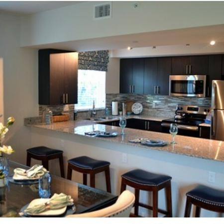 Kitchens with designer backsplash and SS appliances