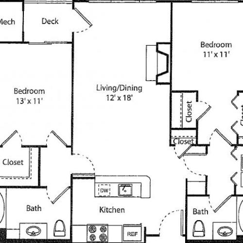 Glenbrook | 2 bed 2 bath | from 998 square feet