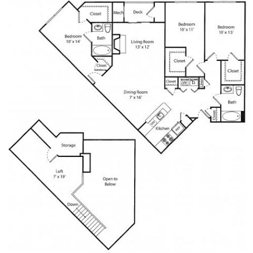 Wescott w/ Loft | 3 bed 2 bath | from 1465 square feet