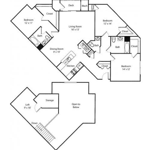 Wakeman w/ Loft | 3 bed 3 bath | from 1650 square feet