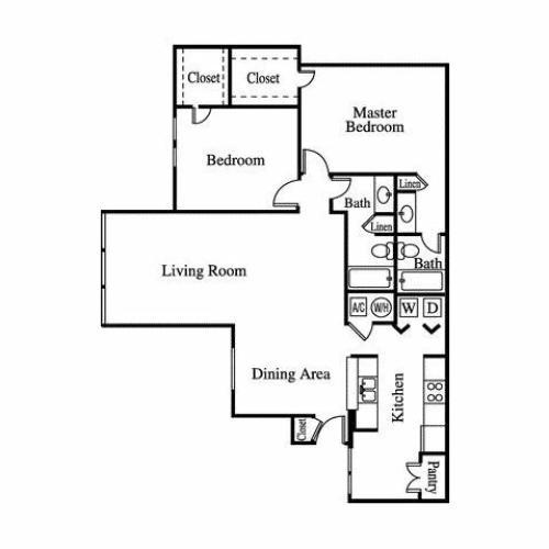 Floor Plan 5 | Greenhouse Apartments