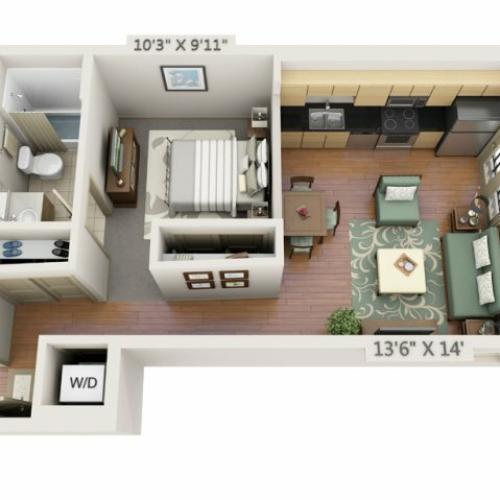 Crestone Apartments: 1 Bed / 1 Bath Apartment In Denver CO