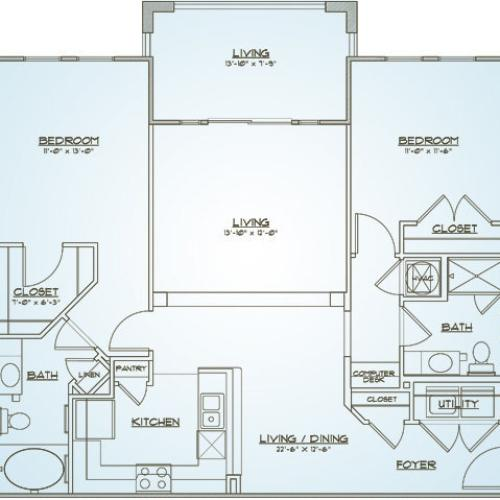 Floor Plan 4 | 1000 West