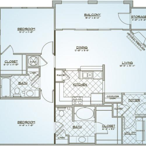 Floor Plan 5 | 1000 West