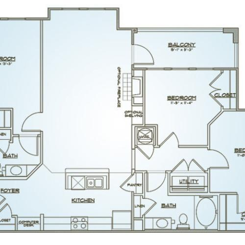 Floor Plan | 1000 West