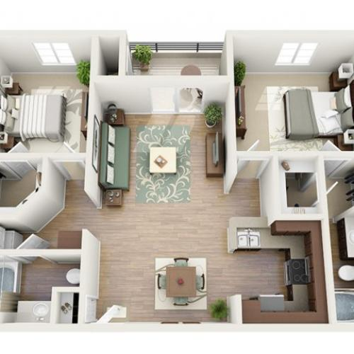 Floor Plan 2 | 1 Bedroom Apartment Santa Monica | AO Santa Monica