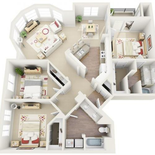 Floor Plan 4 | Luxury Apartment Santa Monica | AO Santa Monica