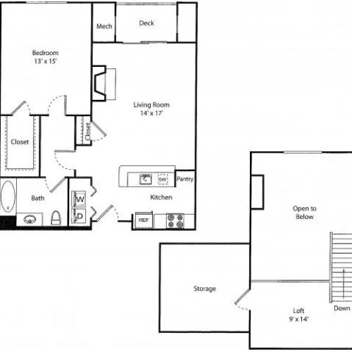Davenport w/ Loft | 1 bed 1 bath | from 866 square feet