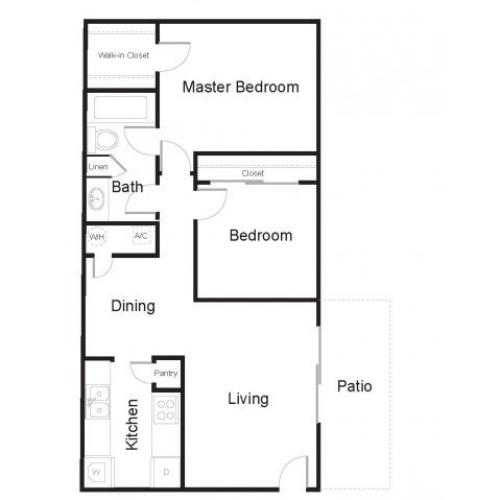 Floor Plan 2 | Greenhouse Apartments