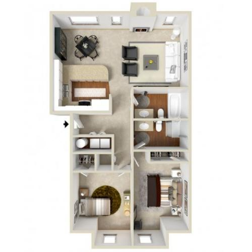 Floor Plan 2 | Apartment In Vancouver | Golfside Village