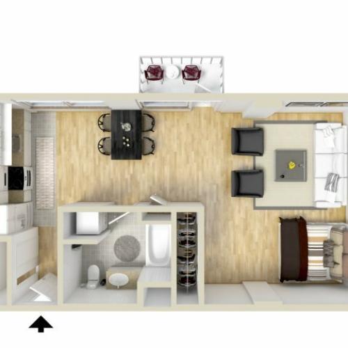 Studio Floor Plan | Museum Place3