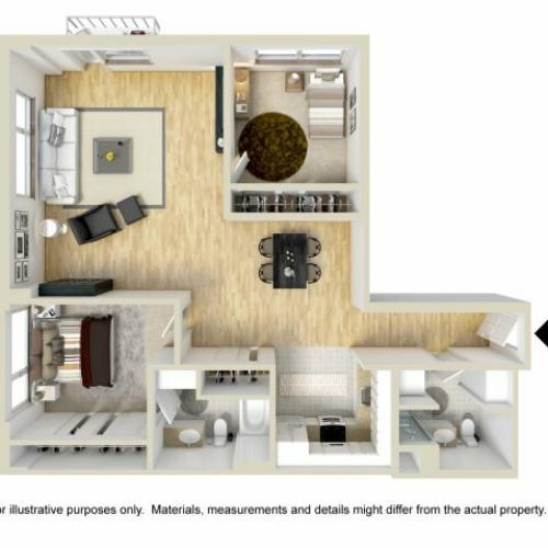 2 Bedroom Floor Plan | Museum Place5