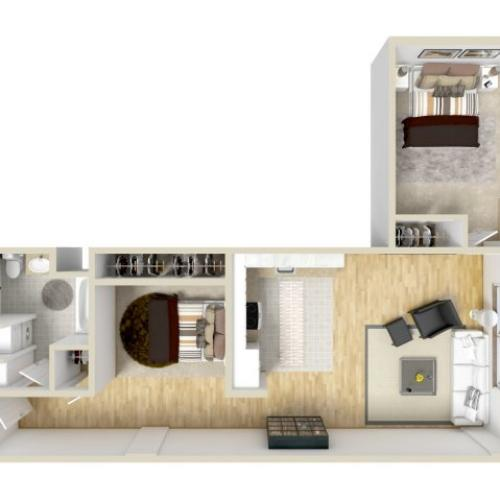 2 Bedroom Floor Plan | Museum Place2
