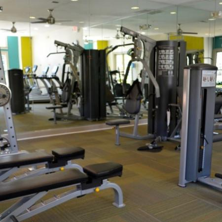 Fitness Center at Dunwoody Place Apartments