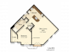 B3 | 1 bed 1 bath | from 1010 square feet