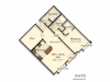 D2 | 1 bed 1 bath | from 1030 square feet
