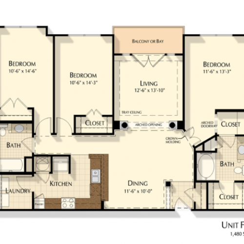 Three Bedroom | Two Bathroom