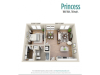 Princess | 1 bed 1 bath | from 760 square feet