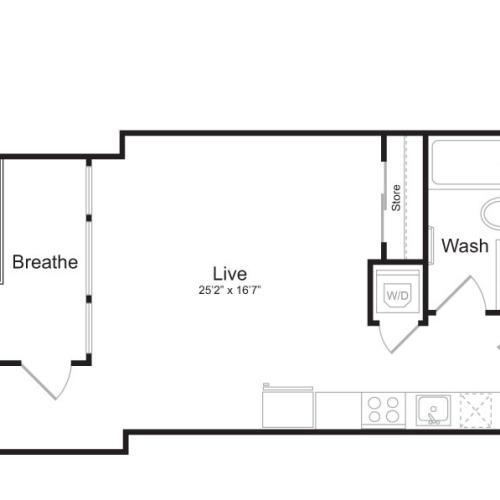 Studio Floor Plan | Mark on 8th