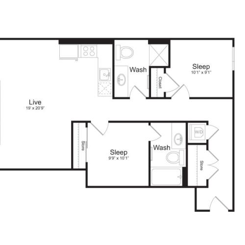Floor Plan 3 | Mark on 8th