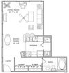 Studio Floor Plan   Vail Quarters 3