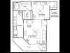 1 Bedroom Floor Plan   Vail Quarters 3