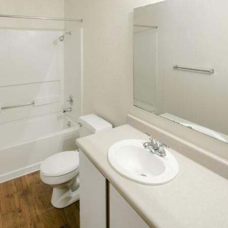 Spacious Bathroom   1 Bedroom Apartments Vancouver WA   Golfside Village