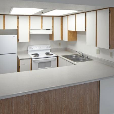 Modern Kitchen   1 Bedroom Apartments Vancouver WA   Golfside Village