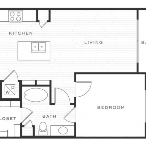 1 Bedroom Floorplan | Luxe Scottsdale 2