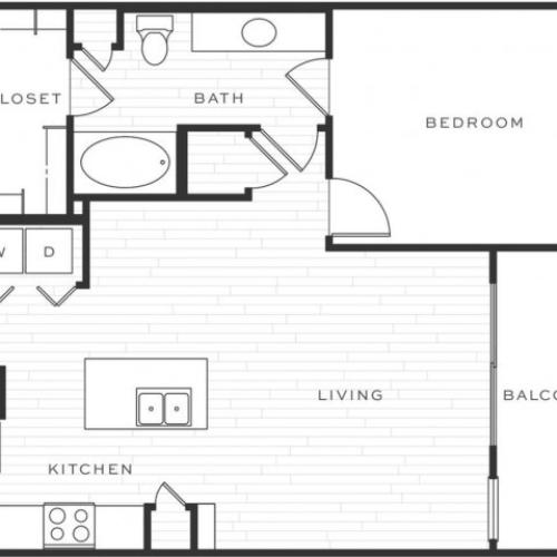 1 Bedroom Floorplan | Luxe Scottsdale 3