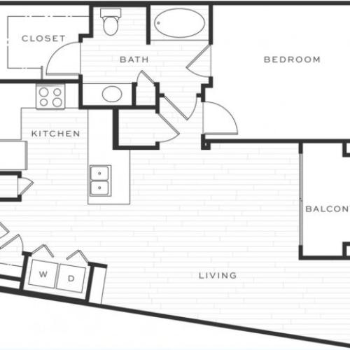 1 Bedroom Floorplan | Luxe Scottsdale 4