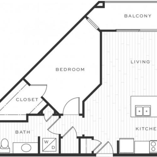 1 Bedroom Floorplan | Luxe Scottsdale 5