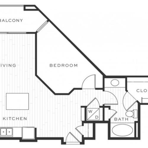 1 Bedroom Floorplan | Luxe Scottsdale 6