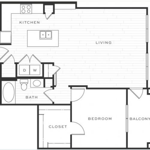 1 Bedroom Floorplan | Luxe Scottsdale 8
