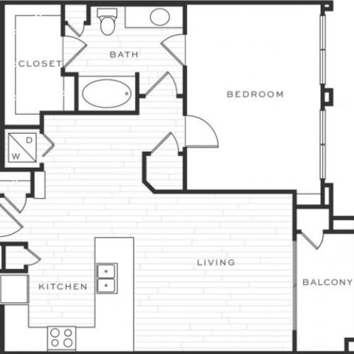 1 Bedroom Floorplan | Luxe Scottsdale 9