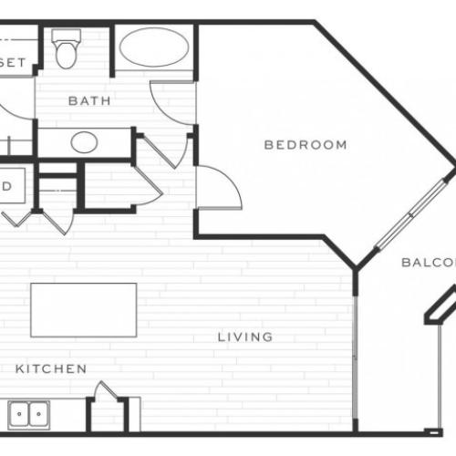 1 Bedroom Floorplan | Luxe Scottsdale 10