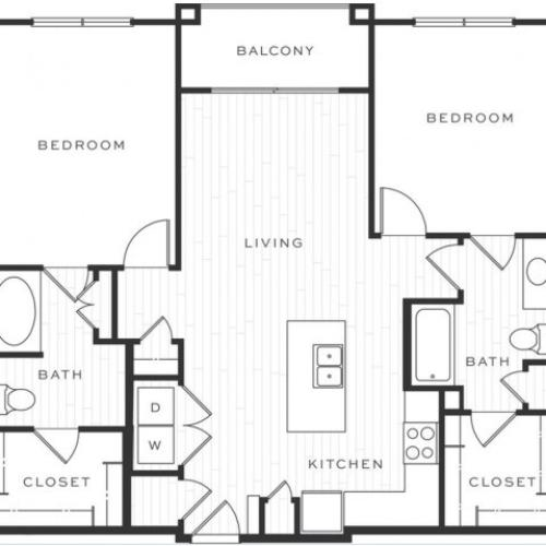 2 Bedroom Floorplan | Luxe Scottsdale