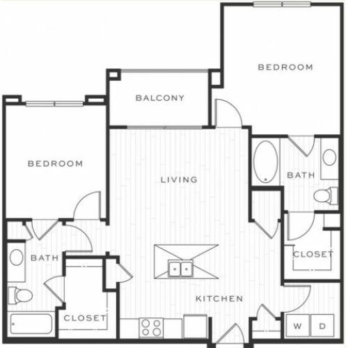 2 Bedroom Floorplan   Luxe Scottsdale 2