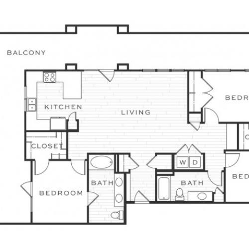3 Bedroom Floorplan | Luxe Scottsdale