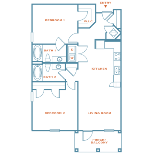 2 Bedroom | Apartments Near Louisville